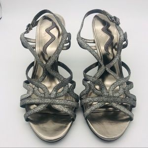 Nina Women's Size 10 Sparkly Sandals Heels Formal